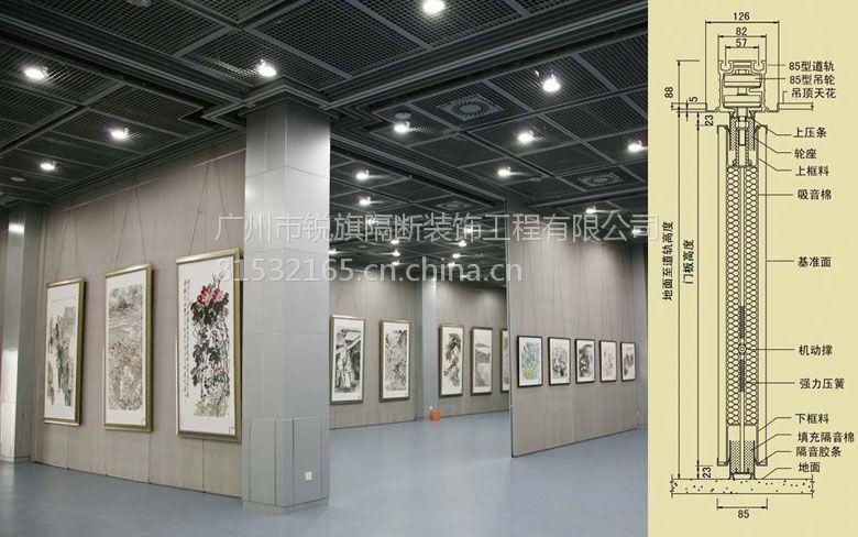 廠家供應福建展覽廳/民覽室活動門/65#三聚氰胺板/適用于辦公室/會議室