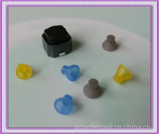 供应深圳坪山硅胶制品厂家专业供应轻触开关硅胶按键6*6