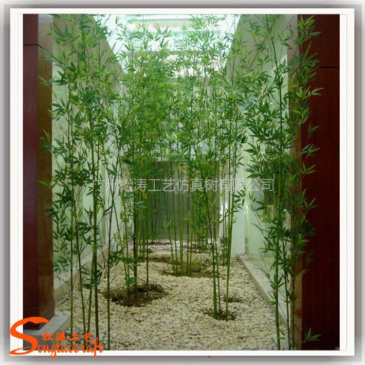 假竹子 仿真植物 仿真竹子装饰隔断屏风 毛竹细竹塑料材质
