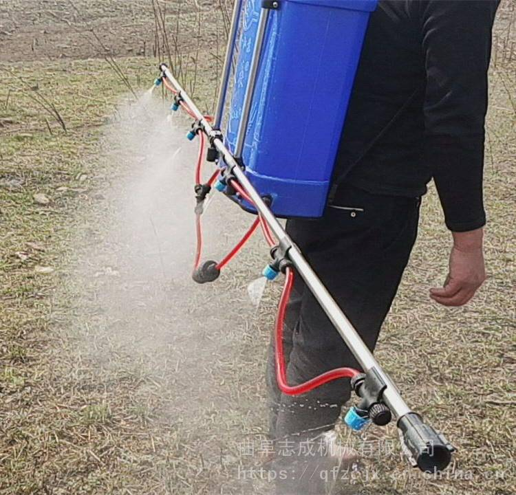 农用支架式喷药机 背负式4米喷幅打药机 志成农业植保机械