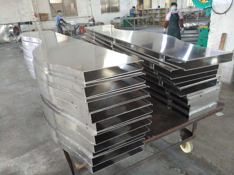 弧形铝方通 异型铝方通 造型铝方通铝板焊接生产视频-欧百建材