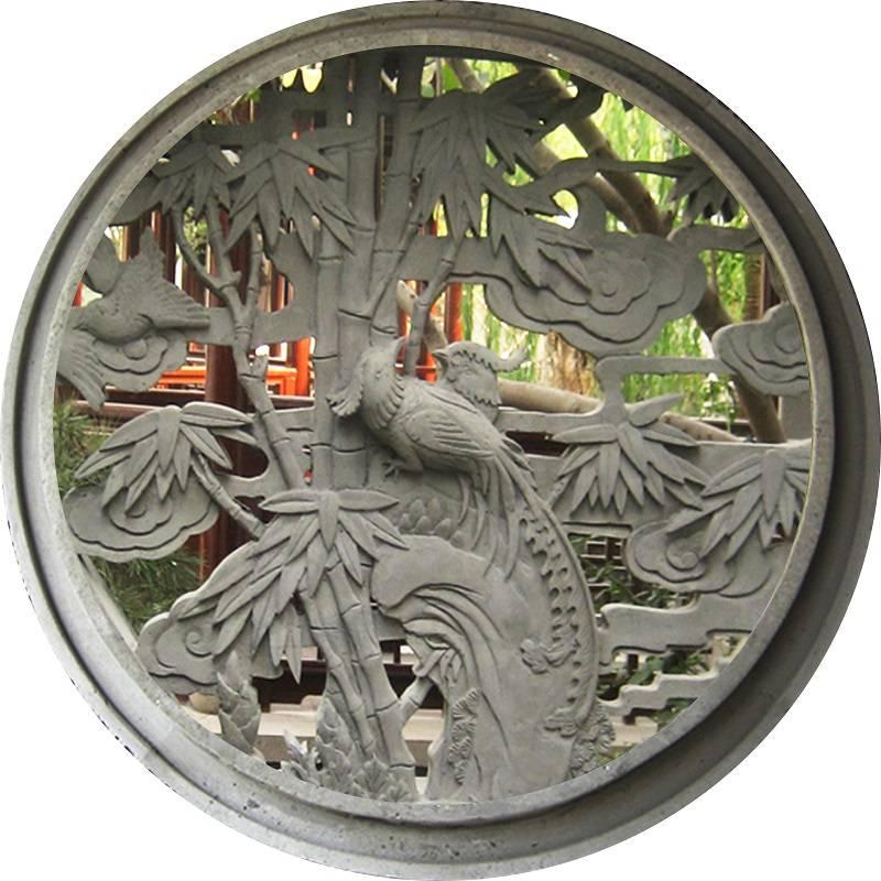 金华园林工程混凝土水泥窗砌块圆形漏窗