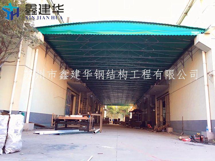 厂家直销悬空式固定雨棚遮阳篷仓库储蓄篷图片