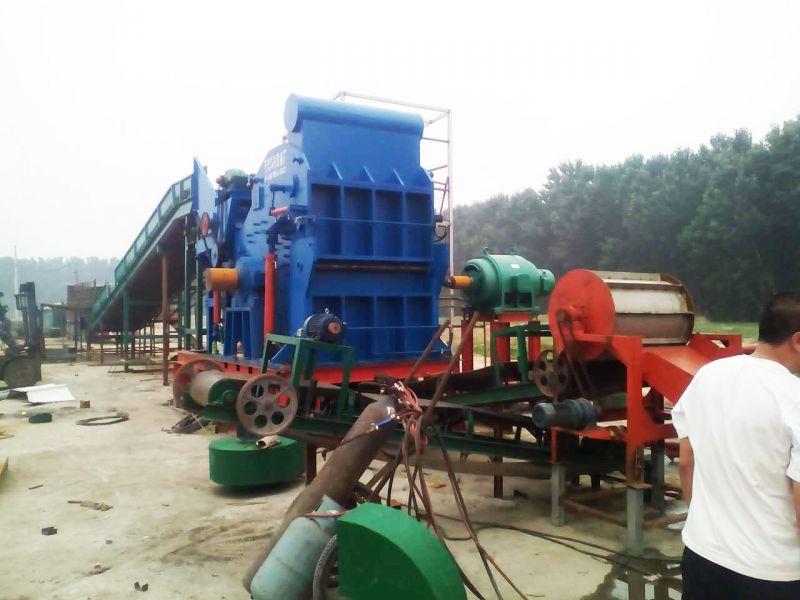 大型废钢破碎机1600型破碎加工废钢铁工作视频