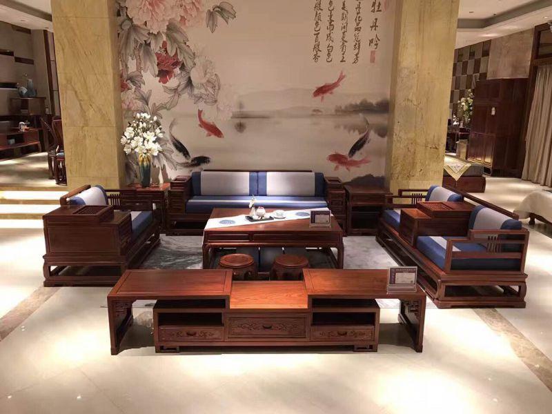 非花明式沙发5件套8件套批发价格 名琢世家红木家具