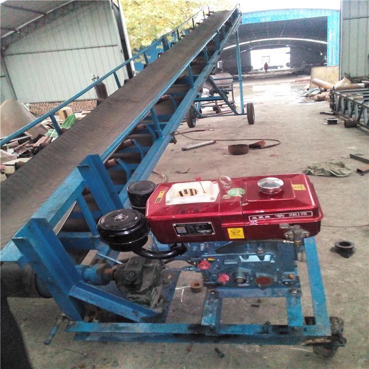 混凝土皮带输送机生产制作 兴亚工厂槽钢大倾角输送机