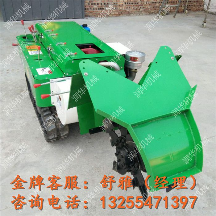 大型自走式果树施肥机 开沟施肥回填一体机 履带式旋耕机