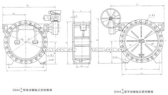 D944x、D344X电、手动翻板式蝶阀