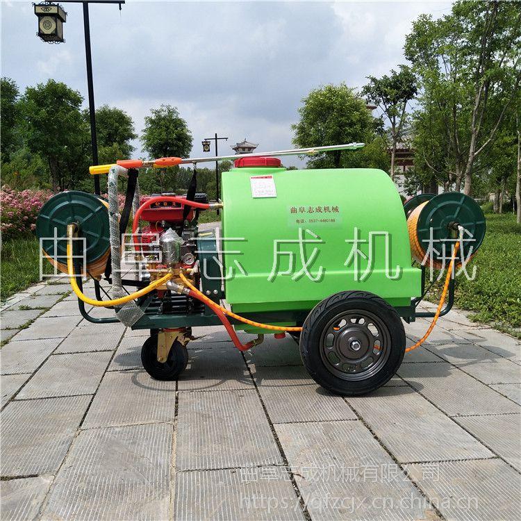 現貨直供志成300L汽油打藥機學校小區綠化消毒殺蟲噴霧機手推式四輪噴藥車