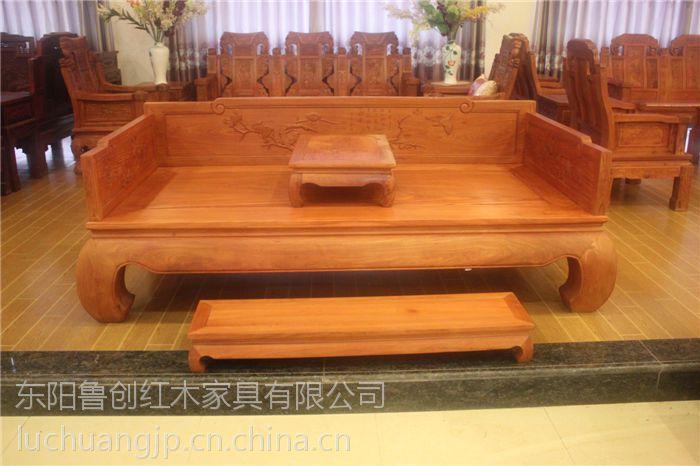 檀雕独板店面定做代发全实木家具、明清罗汉v店面科勒图片
