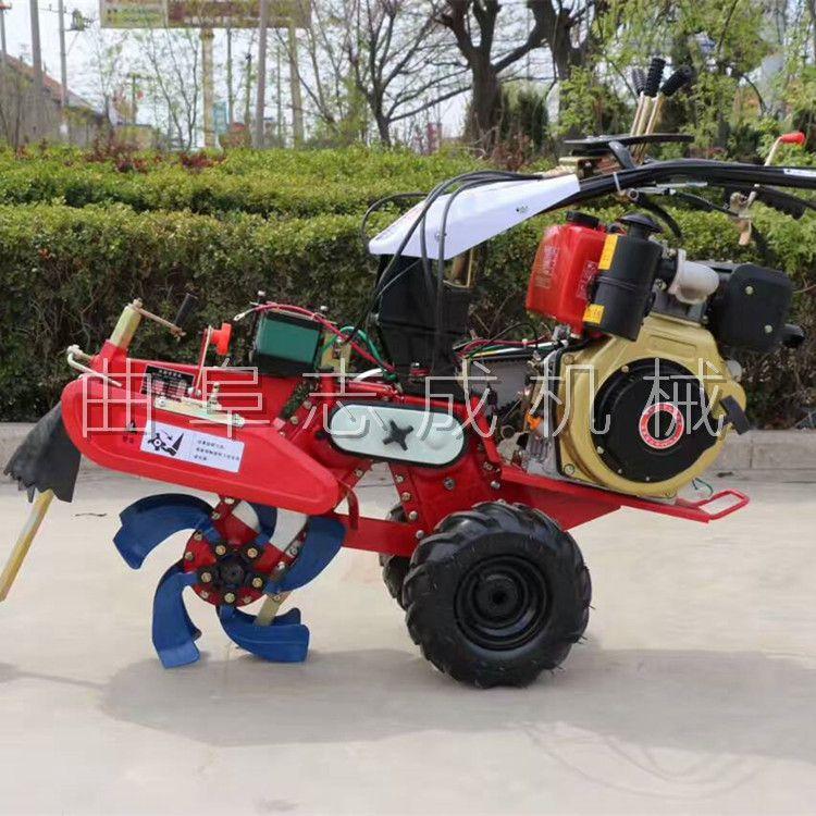 志成牌农用柴油开沟培土机 9马力大葱种植机 多功能田园管理机