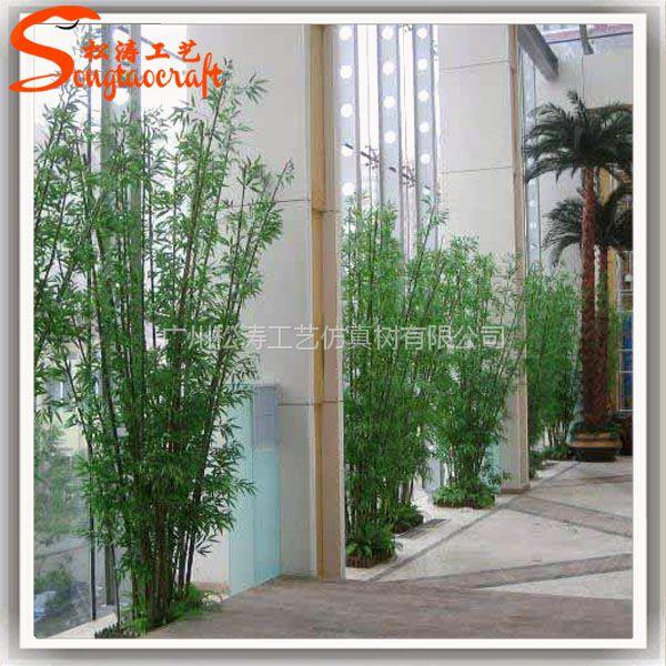 专业仿真竹子厂家 优质毛竹 酒店商场装饰绿植仿真假竹子