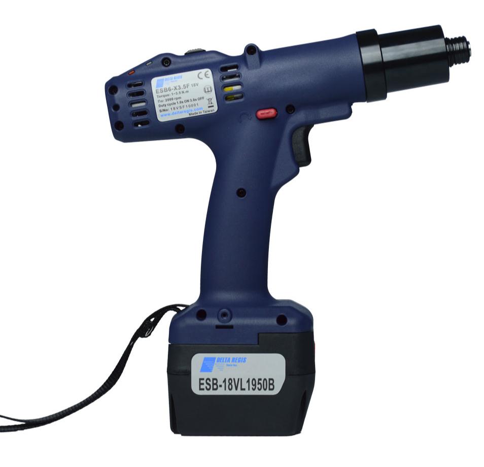 美国进口deltaregis电动螺丝刀电动扭力工具ESB6-X35CESL810-ESD螺丝批充电
