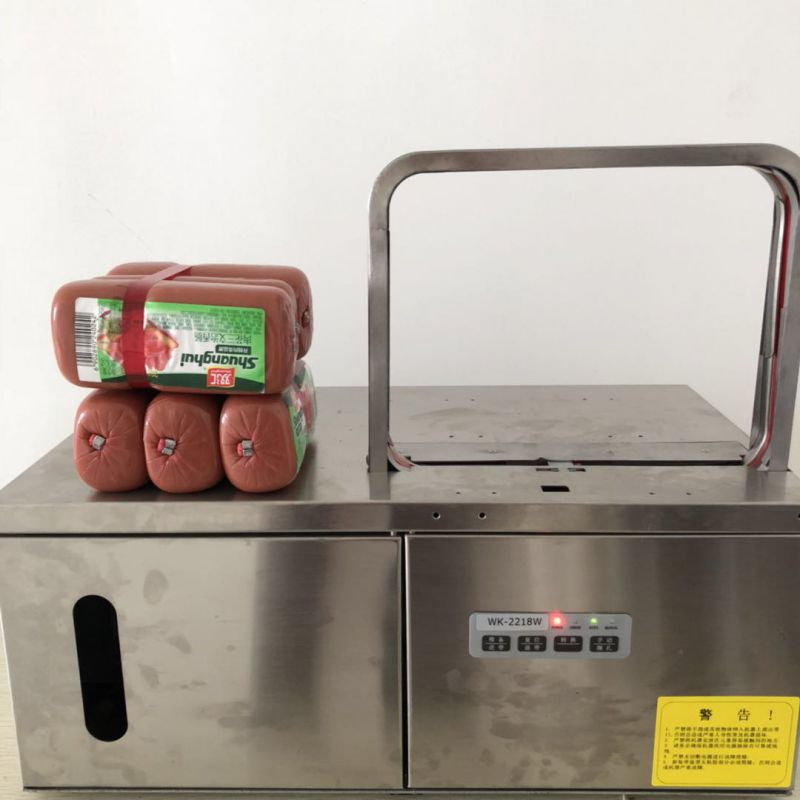 工厂新研发新款火腿肠专用捆扎机