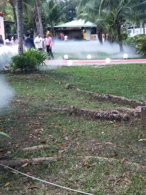 馬來西亞旅游度假村綠化帶冷霧人造霧設備工程
