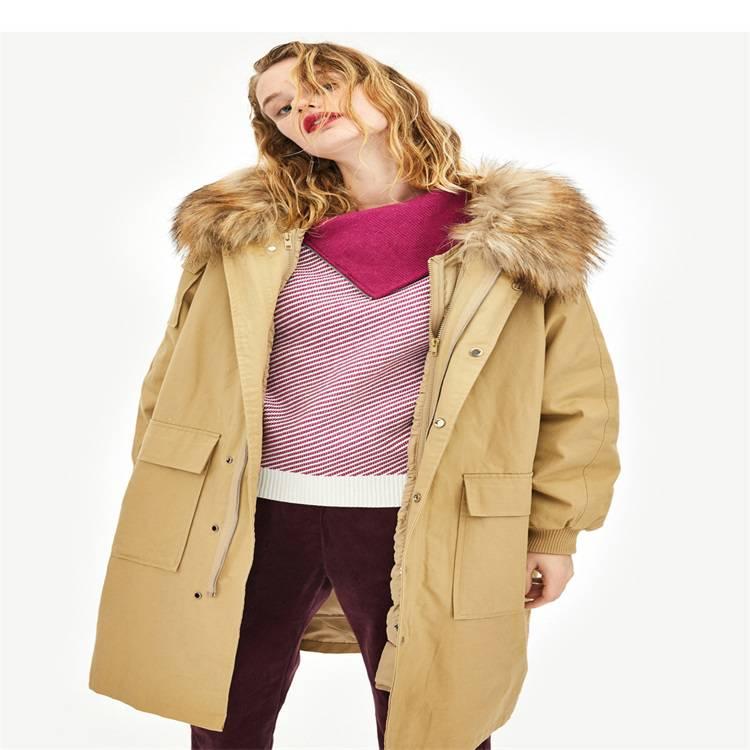 广州服装批发市场 网红同款羽绒服棉服 中长款韩版宽松时尚潮