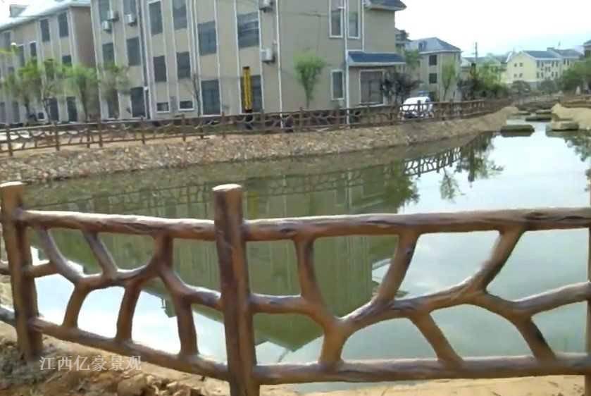 河道仿木栏杆异形款