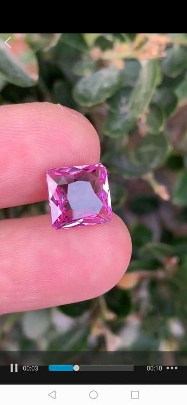 矿区直供优质彩色宝石供货商粉色蓝宝石晶体品质9克拉保真销