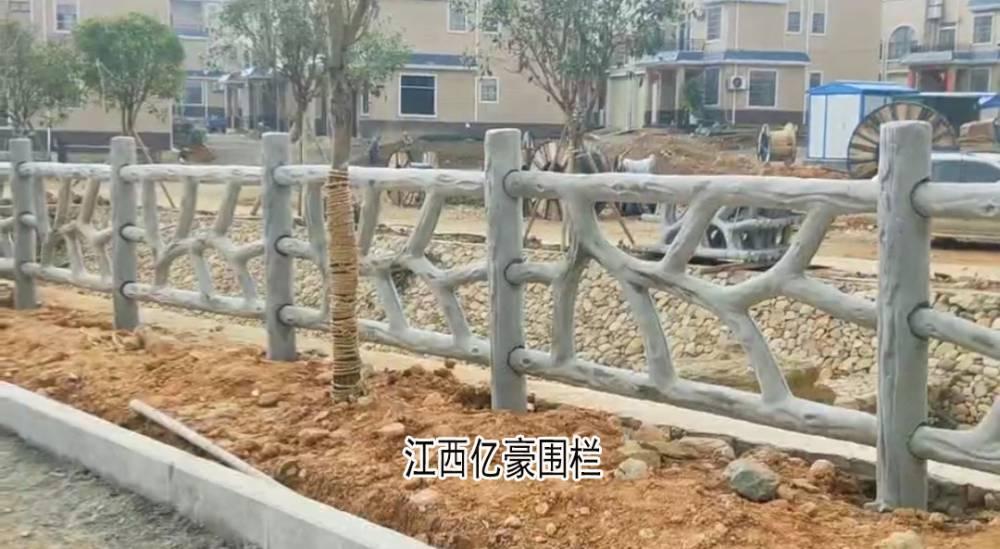 水泥仿生态栏杆,异形仿树藤栏杆, 仿树杈护栏,仿树根枝围栏