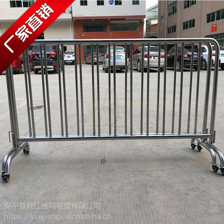 不锈钢铁马厂家 定制各种尺寸护栏隔离移动护栏铁马 304铁马