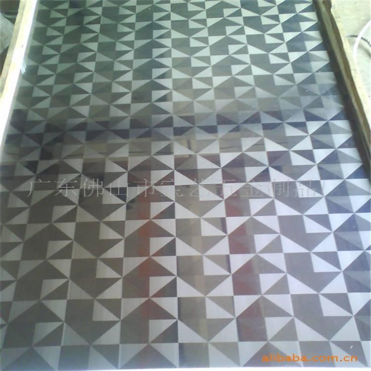 云南昆明 不锈钢屏风安装方法 不锈钢卷带 镜面紫色
