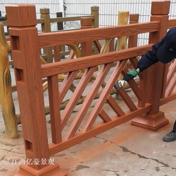 河道仿木栏杆万字梳型款