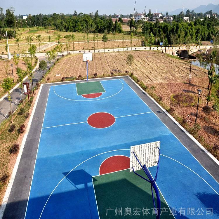 湖南建篮球场,塑胶篮球场塑胶厚度图片