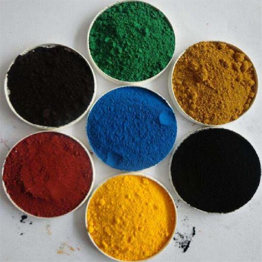 氧化铁红 铁黑 铁黄 铁绿 铁蓝水泥地砖用颜料