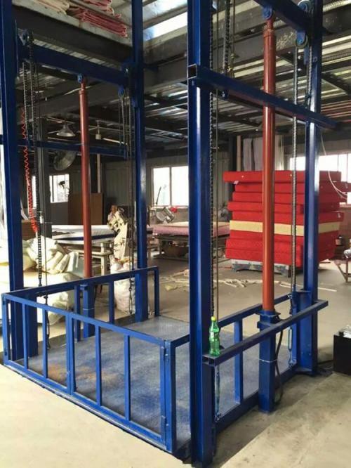 专业定做3吨仓库导轨式升降货梯|5吨车间链条式垂直升降台|