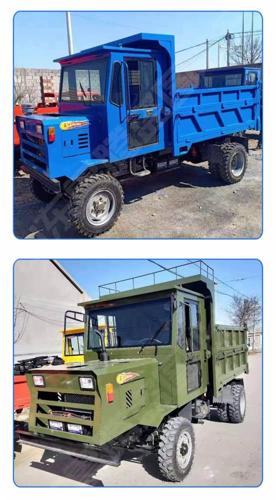 柴油动力小型四轮翻斗车 农用运输车 直销农用四轮车拖拉机图片