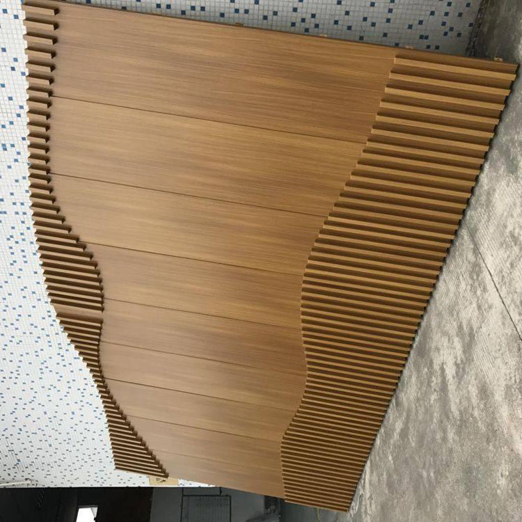 按圖紙定制規格木紋鋁板木紋鋁單板廠家軍輝建材