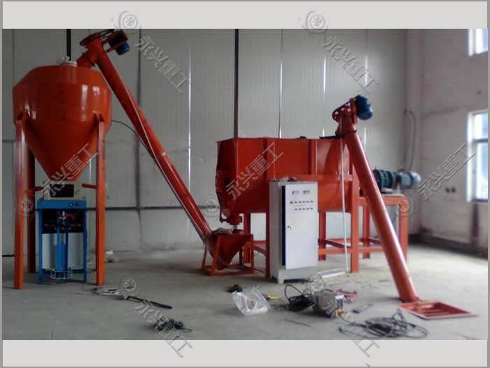 廠家時產2噸膩子粉生產設備發貨
