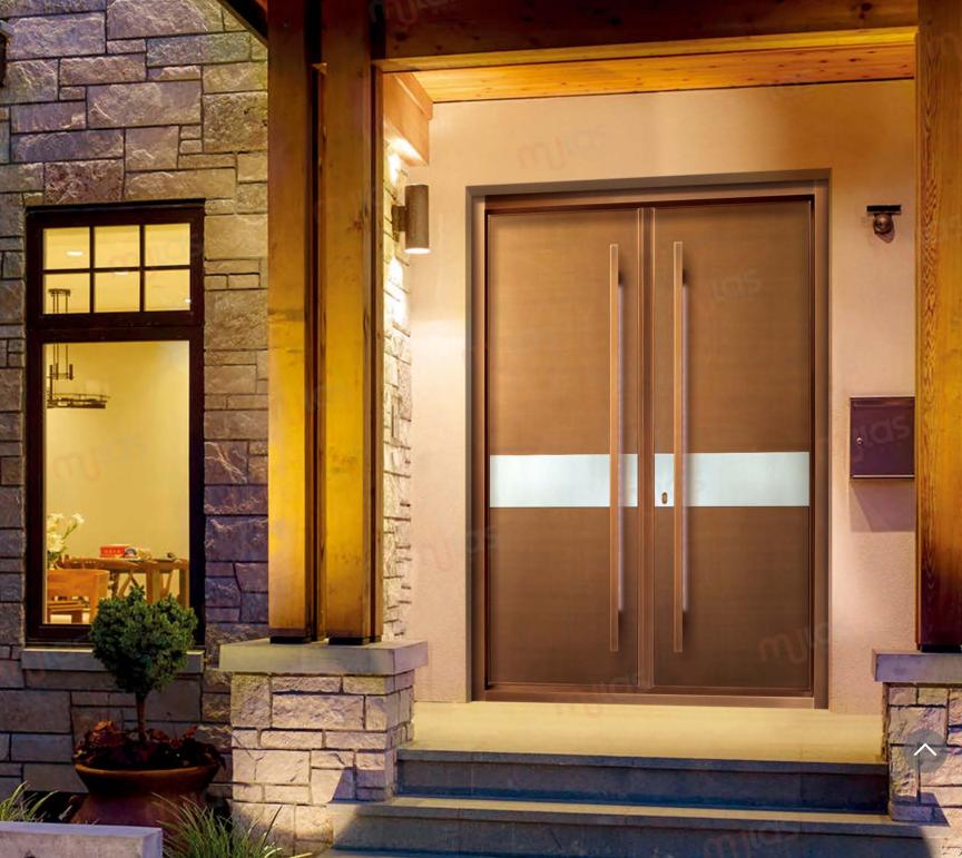 新中式銅門入戶門廠家慕拉斯