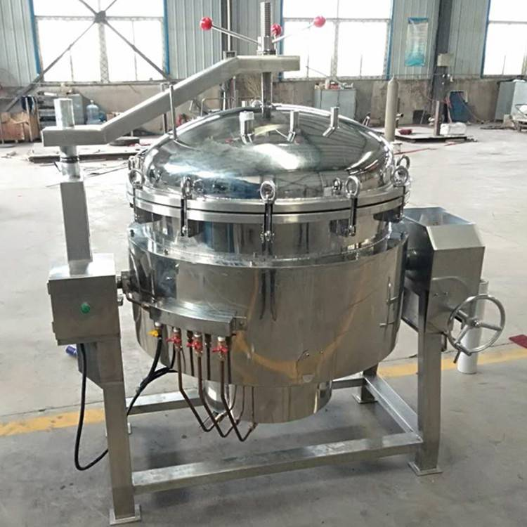 高压蒸煮锅视频 电加热高压蒸煮锅  商用大型高压煮锅