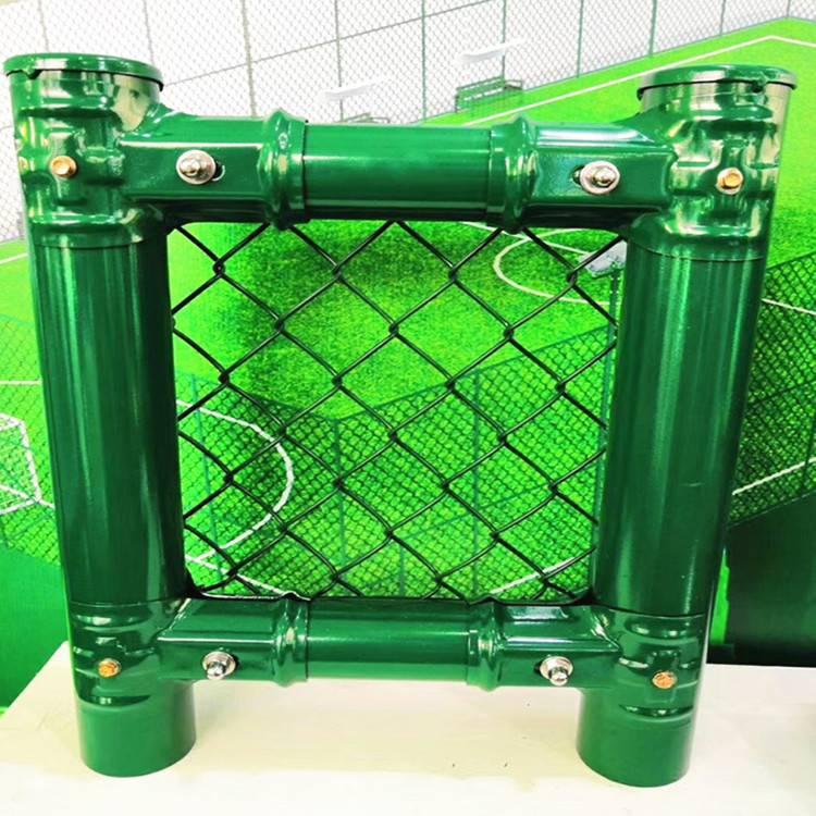 北京防护网厂家定做体育铁丝网 篮球场勾花网