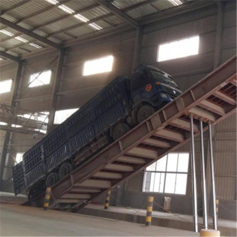 液压翻板卸车平板散装物料卸车机 液压翻板卸车平台 货物运输卸