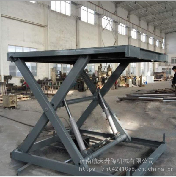 工厂直销各种款式液压提升设备|仓库固定剪叉式货梯|双跨剪刀式升降平台|航天价格优惠