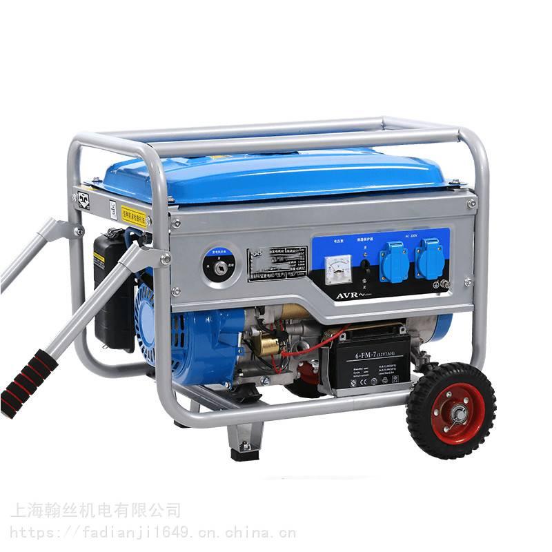 户外工程用380V三相6500W汽油发电机