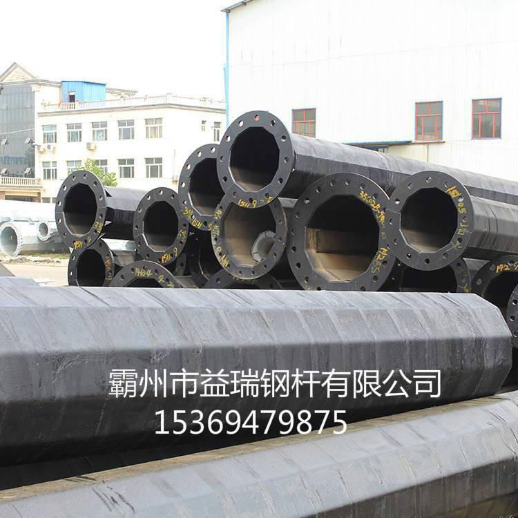 丽江市双回路66kv终端钢杆 架空线15米直线钢管杆