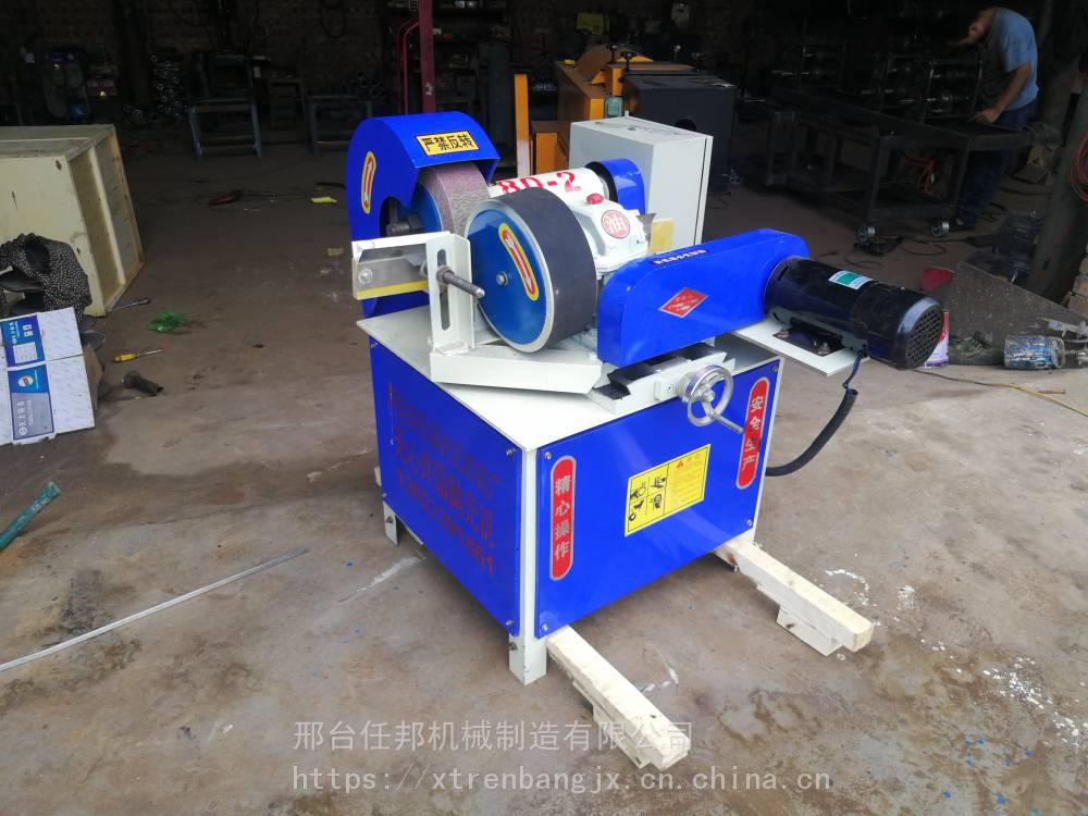 任邦小型台式圆管除锈机 自动圆管抛光机