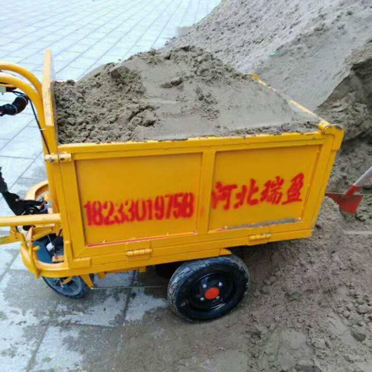 灰斗车 工地电动手推车可进电梯建筑工程拉沙子水泥工具车