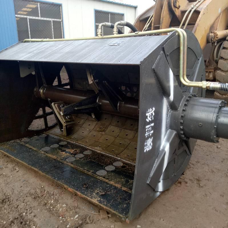 铲车搅拌洗沙斗可以搅拌混凝土还可以洗沙一机多用s