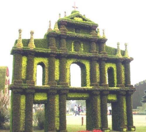 四川成都創意植物墻造型綠雕成都綠雕廠綠雕制作