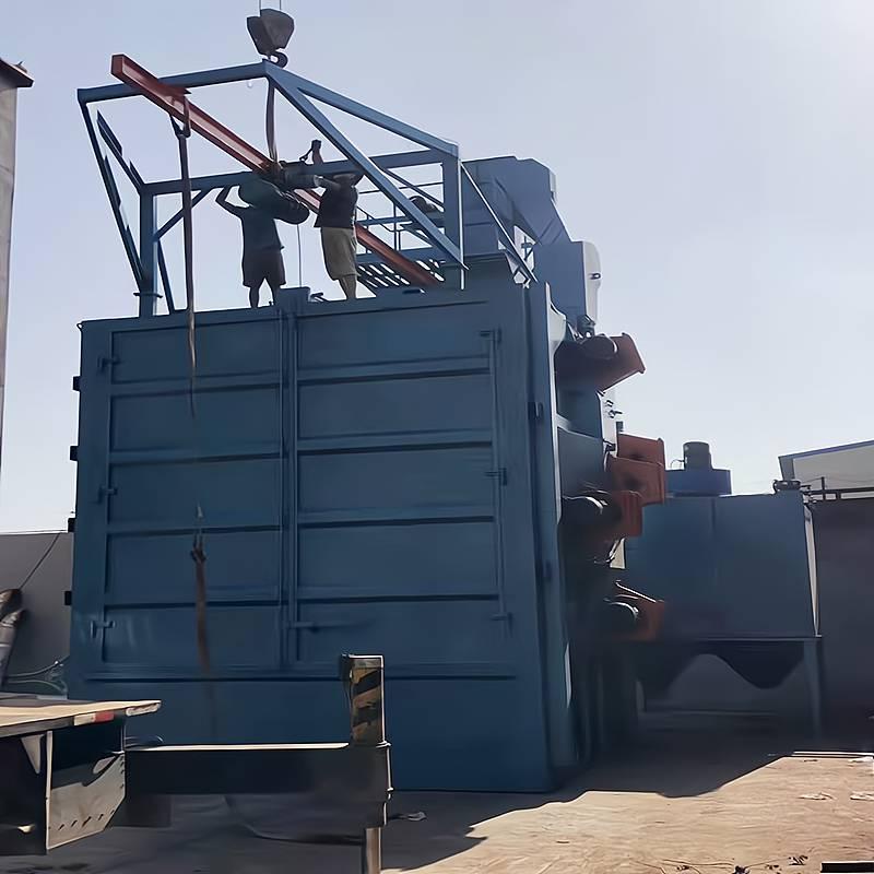 山东抛丸机厂家环保喷砂机挂钩式抛丸机通过式抛丸机价格