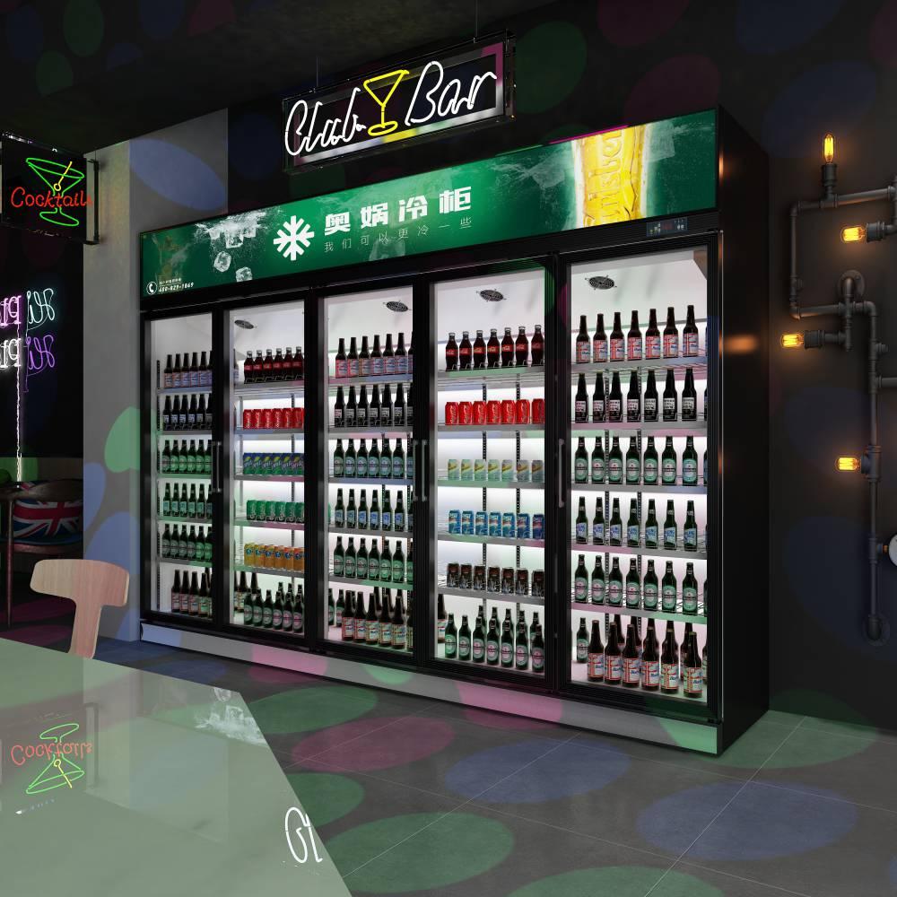 奥娲超市冷柜啤酒柜饮料柜冷藏柜现货供应