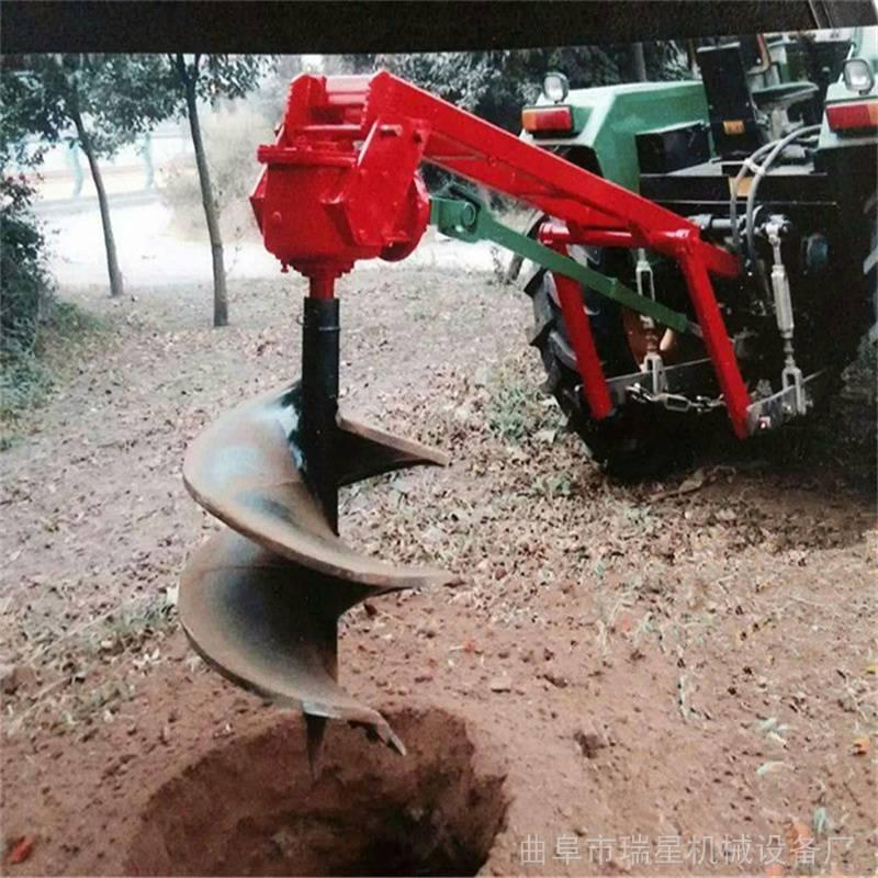 植树挖坑机树木种植挖坑机拖拉机后输出挖窝机