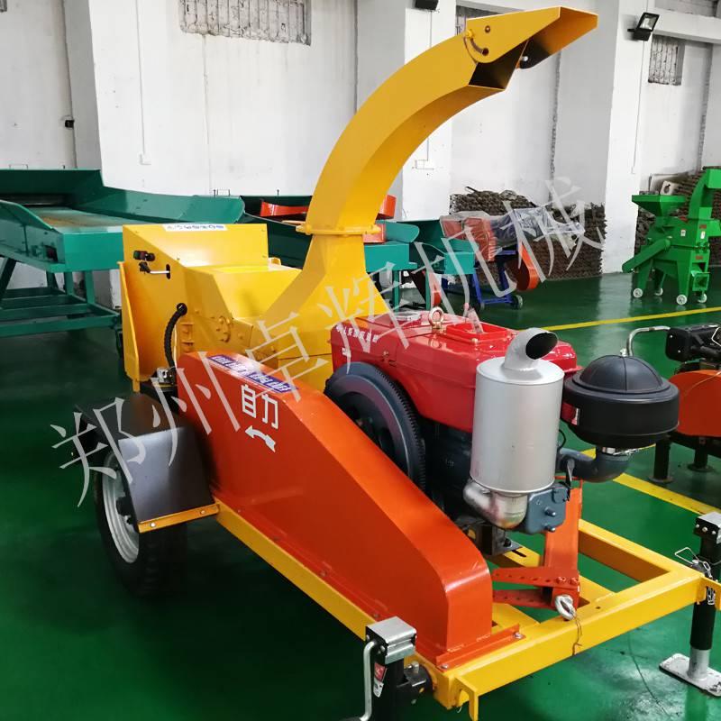 广州移动式树枝粉碎机 牵引柴油驱动木材粉碎机 木头碎枝机