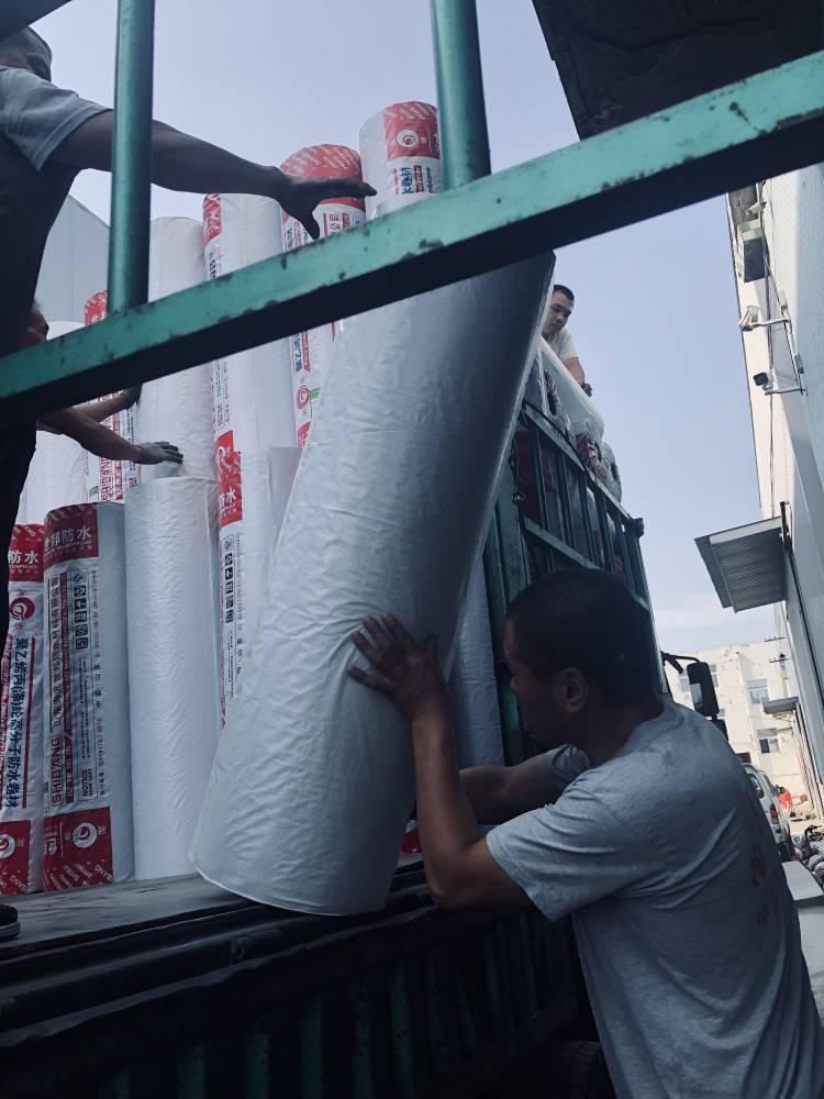 昶泰牌 批发聚乙烯高分子丙纶 涤纶布防水卷材 建筑防水材料