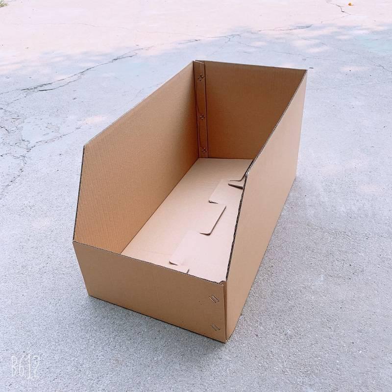 货架专用零件纸盒 库位分类纸箱 纸料盒厂家现货可开专票 当天