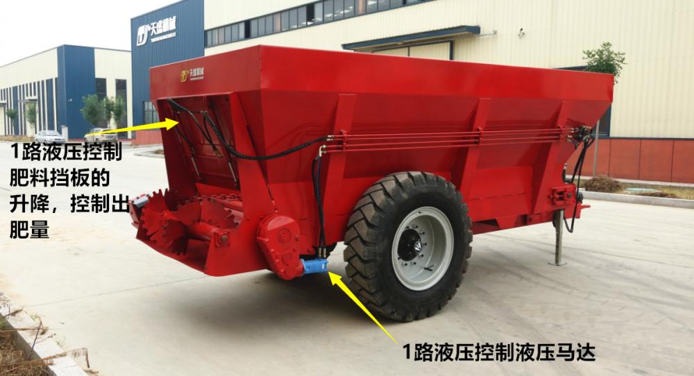液压撒肥车 扬粪车 2FGH-H系列 单横螺旋撒肥机
